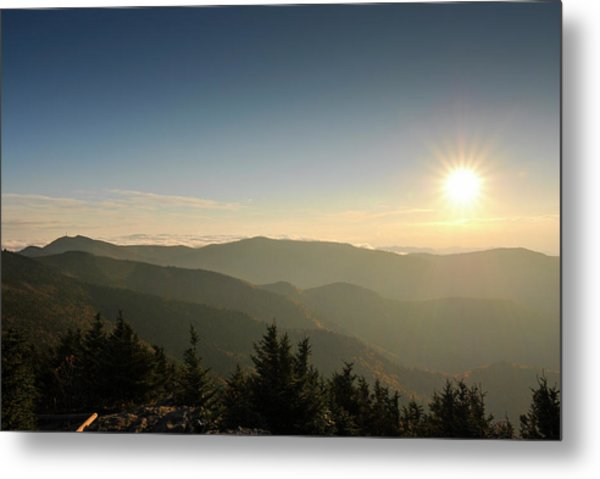 Boone Nc Area Sunset Metal Print