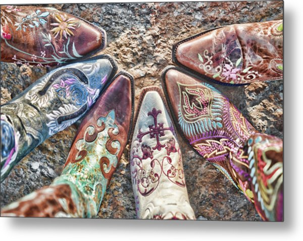 Boot Fan Metal Print