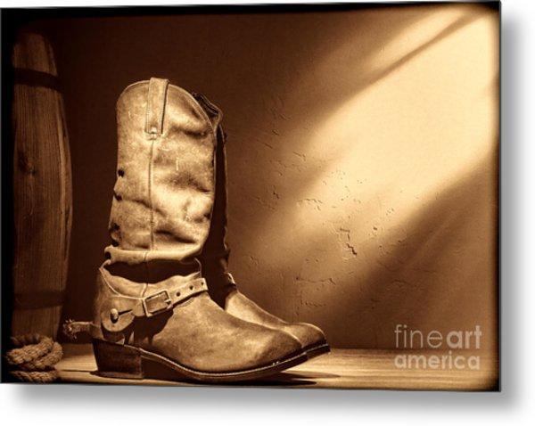 Boots At The Hacienda  Metal Print