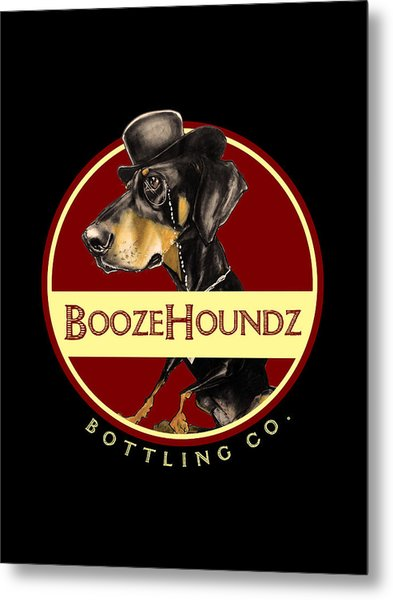 Boozehoundz Bottling Co. Metal Print