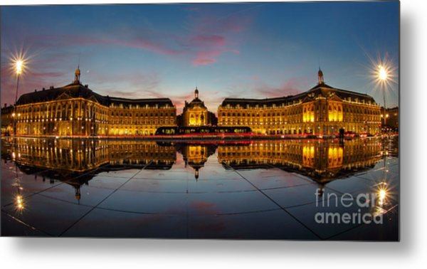 Bordeaux Reflections Metal Print