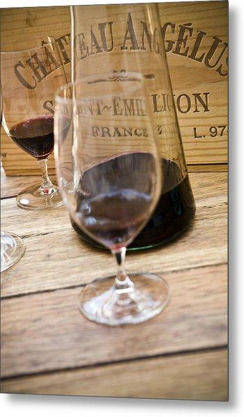 Bordeaux Wine Tasting Metal Print by Frank Tschakert