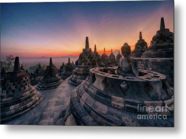 Borobudur Temple Metal Print