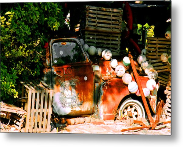 B.o.'s Fish Wagon In Key West Metal Print