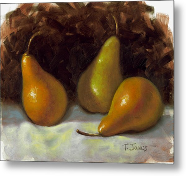 Bosc Pears Metal Print