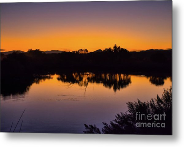 Bosque Del Apache Sunset Metal Print