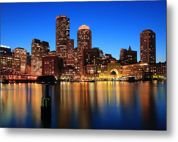 Boston Aglow Metal Print