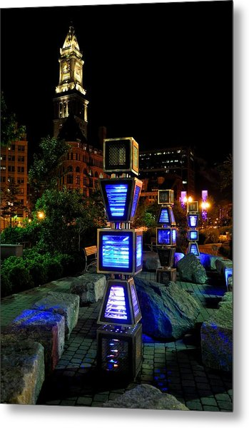 Boston At Night 1 Metal Print by Andrew Dinh