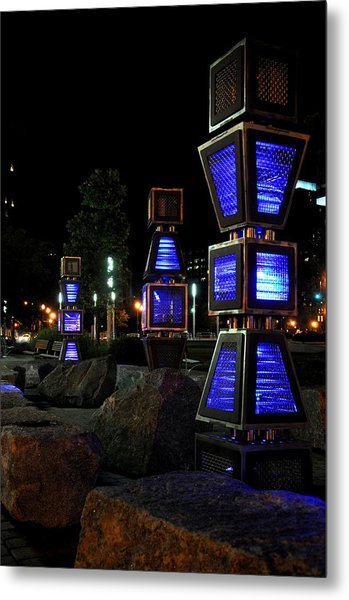 Boston At Night 2 Metal Print by Andrew Dinh