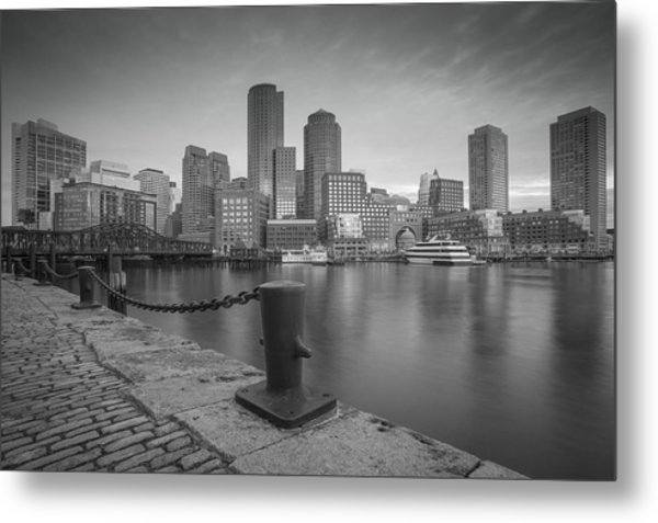 Boston Black And White Metal Print
