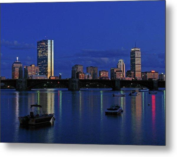 Boston City Lights Metal Print