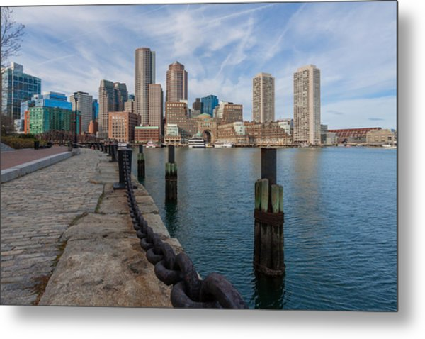 Boston Cityscape From The Seaport District 3 Metal Print