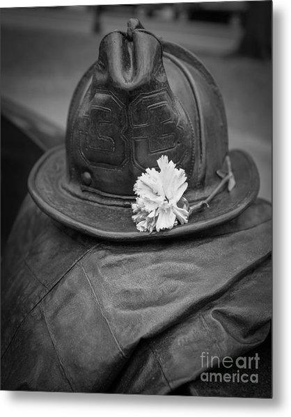 Boston Fireman Memorial Back Bay Metal Print
