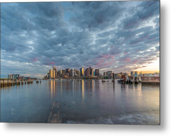 Boston From Carletons Whahrf Metal Print