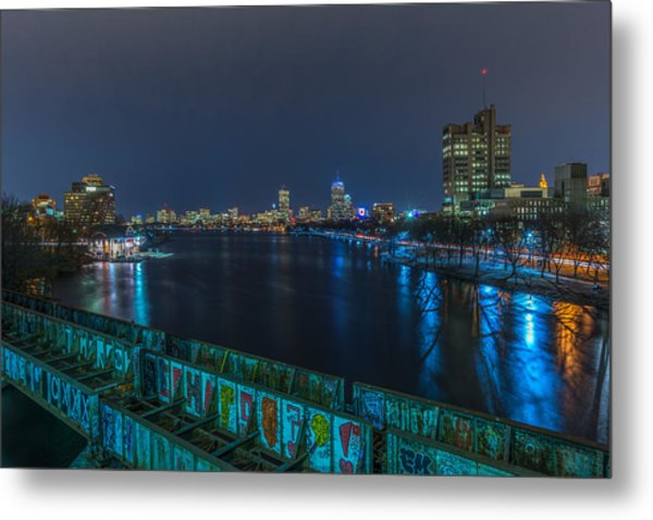 Boston From The Boston University Bridge Metal Print