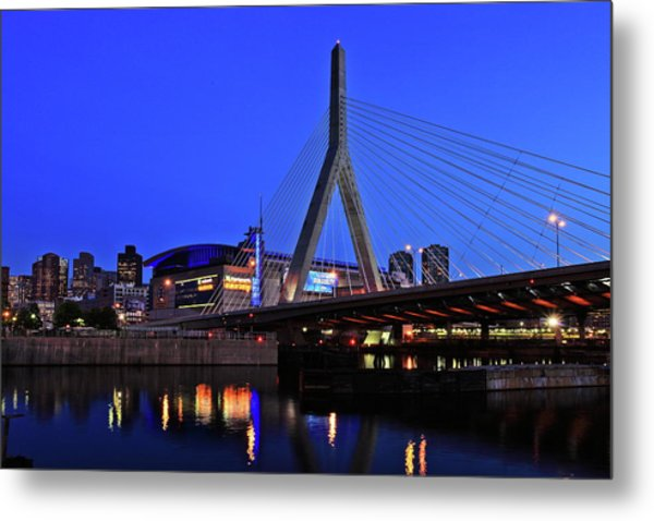 Boston Garden And Zakim Bridge Metal Print