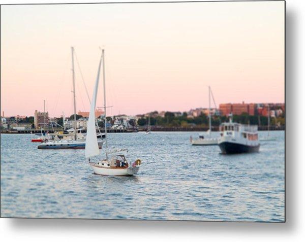 Boston Harbor View Metal Print