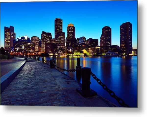 Boston Harbor Walk Metal Print
