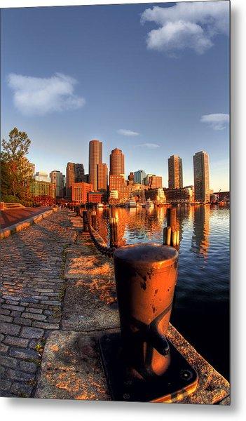 Boston Harborwalk Sunrise Metal Print by Joann Vitali