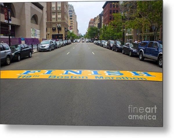 Boston Marathon Finish Line Metal Print
