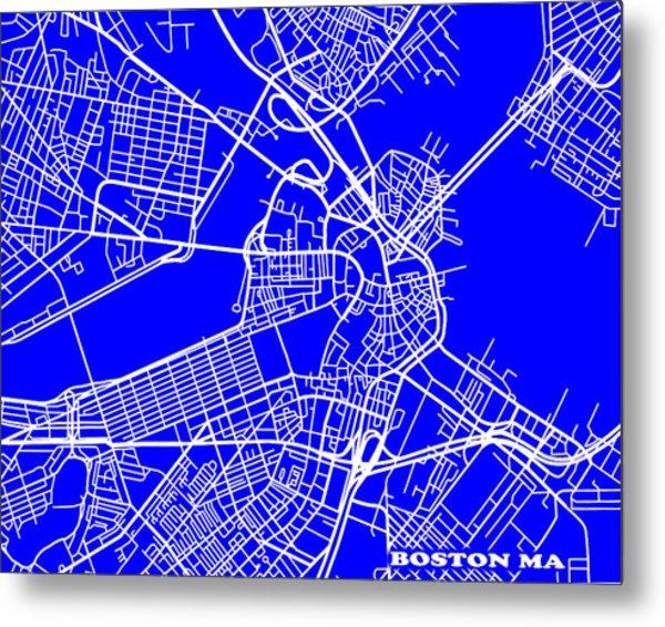 Boston Massachusetts City Map Streets Art Print   Metal Print