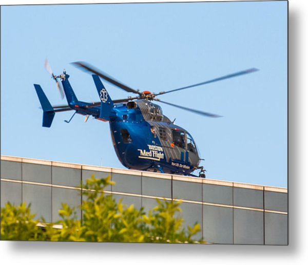 Boston Medflight Metal Print