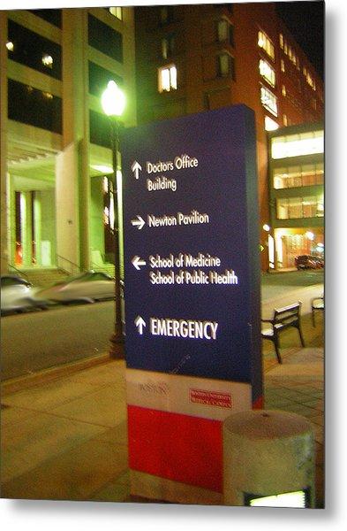 Boston Medical At Night Metal Print by Heather Weikel