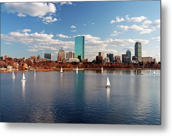 Boston On The Charles  Metal Print