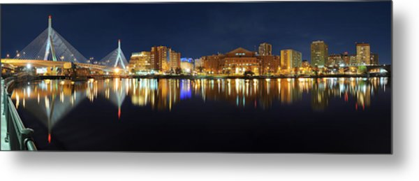 Boston Pano From Bridge To Bridge Metal Print