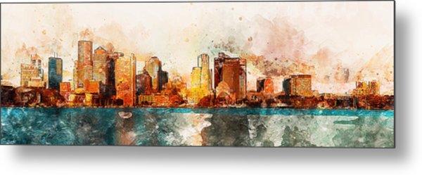 Boston, Panorama - 10 Metal Print