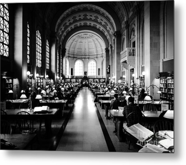 Boston Public Library... Or Hogwarts? Metal Print by JMerrickMedia