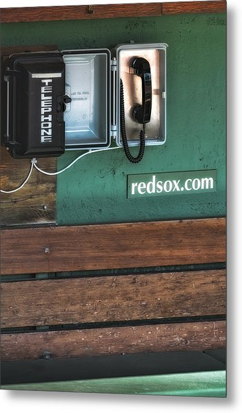 Boston Red Sox Dugout Telephone Metal Print