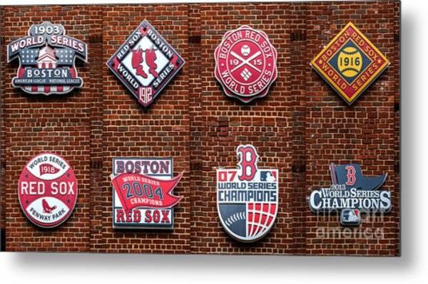 Boston Red Sox World Series Emblems Metal Print
