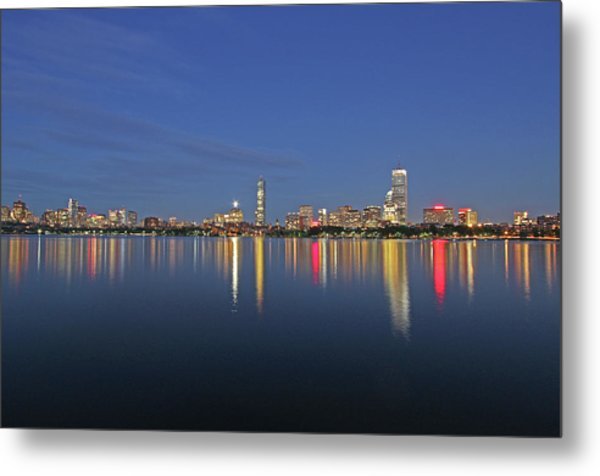 Boston Tallest Skyscrapers Metal Print by Juergen Roth