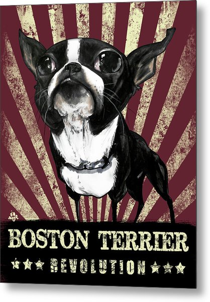 Boston Terrier Revolution Metal Print