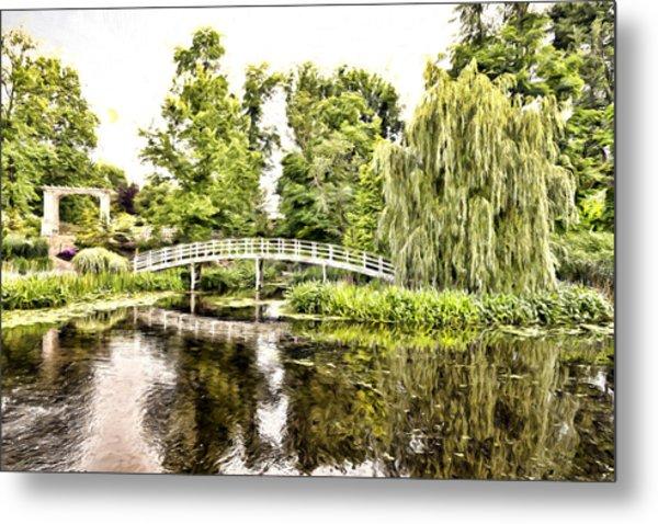Botanical Bridge - Monet Metal Print