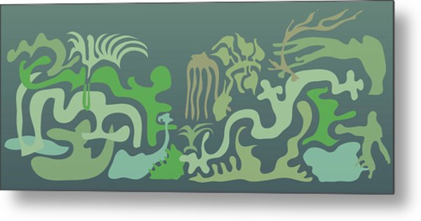 Botaniscribble Metal Print