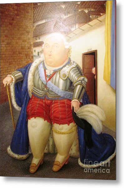 Botero Royal Man Metal Print