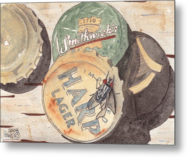 Bottlecaps And Barfly Metal Print