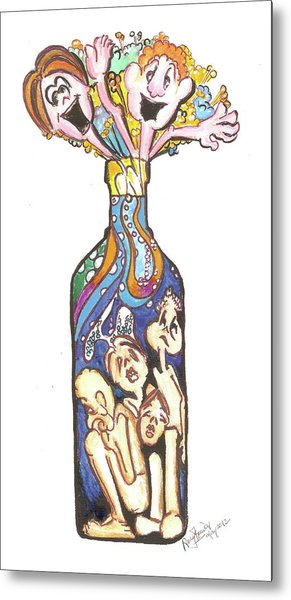 Bottled Emotions Metal Print by Remy Francis