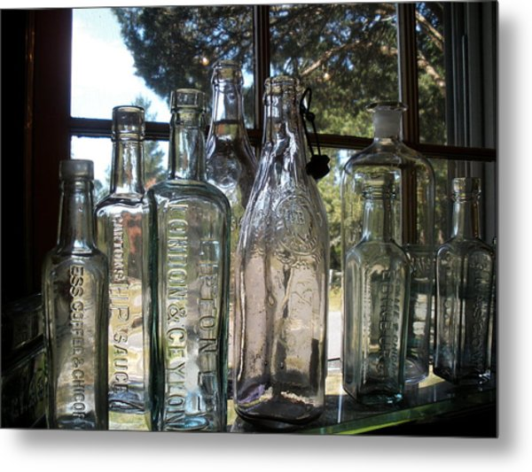 Bottled Up Metal Print by Richard Mansfield