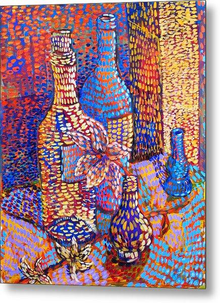 Bottles And Vases Metal Print by Rollin Kocsis