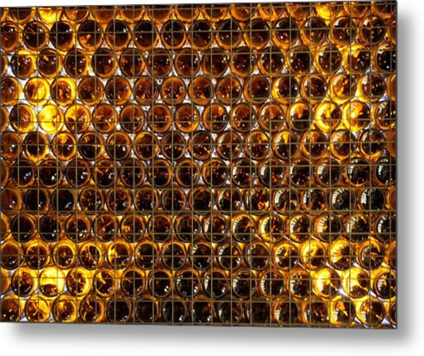 Bottles Of Beer On The Wall Metal Print