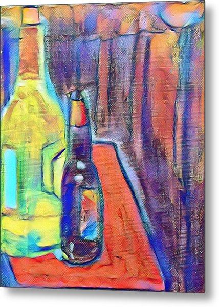 Bottles-still Life  Metal Print