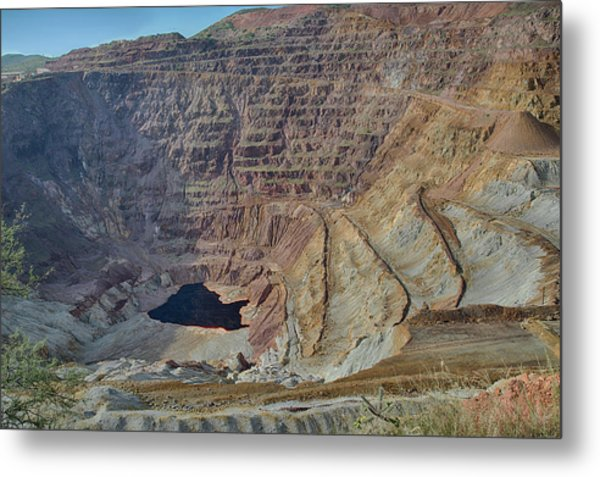 Metal Print featuring the photograph Bottom Of The Lavender Pit Mine by Dan McManus