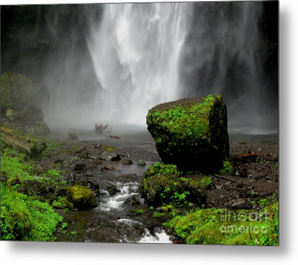 Bottom Of Wakeena Falls Metal Print by PJ  Cloud