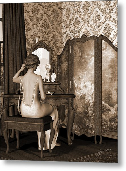 Boudoir Reflection Metal Print