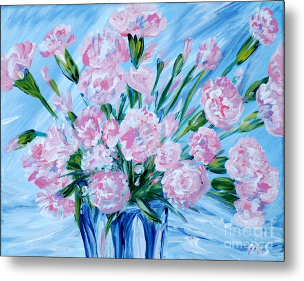 Bouguet Of Carnations.  Joyful Gift. Thank You Collection Metal Print