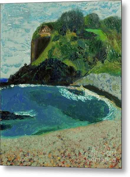 Metal Print featuring the painting Boulder Beach by Paul McKey