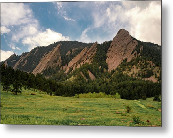 Metal Print featuring the photograph Boulder's Flatirons by Philip Rodgers